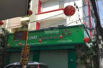 Cho thuê nhà góc MT đường Đồng Xoài, P. 13, Tân Bình. Diện tích: 19x7.5m 1 trệt 2 lầu