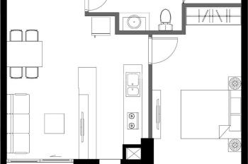 Chính chủ bán thu hồi vốn căn hộ 1 phòng ngủ 61.79m2 (căn số 2) dự án Ascent Plaza