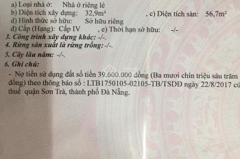 Bán nhà riêng phường Phước Mỹ, Q. Sơn Trà