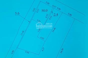 Cần bán lô đất 50m2 2 mặt tiền, hướng Bắc và Tây mặt ngõ rộng 3,5m xe 7 chỗ vào nhà, giá hợp lý
