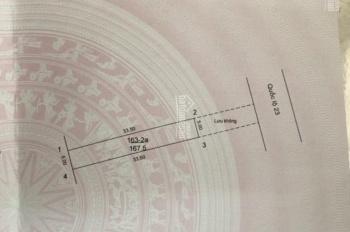 Bán đất mặt đường quốc lộ 23 ngã 3 Thường Lệ, Đại Thịnh, Mê Linh. 168m2, lưu không 50m