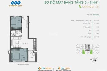 Nhượng lại căn hộ tầng trung, view hồ điều hòa, 2 ngủ, 2 vệ sinh - FLC Garden City. LH: 0947309896