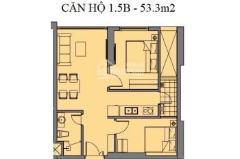 Cần tài chính bán gấp căn hộ 2 PN, diện tích 53m2 tầng trung dự án, full nội thất nhập khẩu CC
