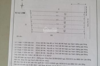 Bán lô 5x63m Tố Hữu, phường Lộc Sơn, cách trường học Lộc Sơn 2 200m, giá 625 tr/lô, hiện có 5 lô