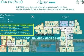 Giá tốt: 53-59tr/m2 dự án D'Lusso Emerald Quận 2 CK 2% từ 70-120tr DT từ 68m2-104m2 LH 0901584485