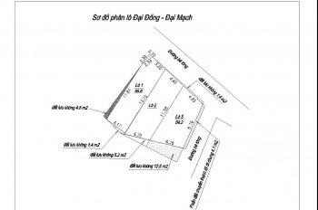 Cần bán 55m2 thổ cư thôn Đại Đồng, Đại Mạch, LH 0968 645 886