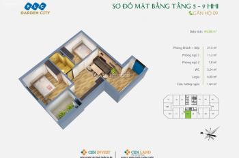 Bán căn chung cư 2PN, FLC Garden 49.75m2, giá gốc 16,5 triệu/m2, view Aeon Hà Đông