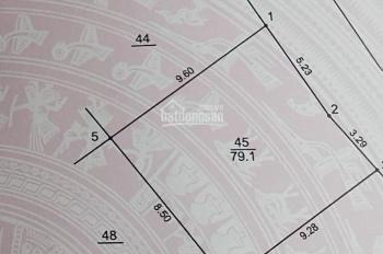 Bán lô đất đấu giá B4/No1 Thượng Thanh, DT 88m2, đường nhựa vỉa hè, giá 59 triệu/m2