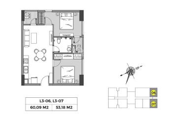 Căn hộ chung cư cao cấp 2 ngủ, sản phẩm khó tìm khu vực Long Biên - 0973049966