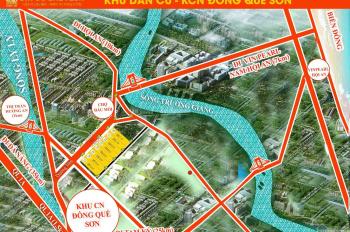 Cần bán gấp đất nền diện tích lớn từ 230m2, khu Đông Quế Sơn gần cầu Hương An. LH: 0911 299 066