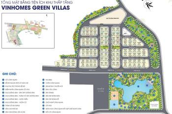 Bán biệt thự Vinhomes Green Villas view công viên 7ha, DT 235m - 280m - 350m2. LH 0931368661