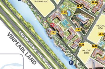 Chính chủ cho thuê căn góc 2 mặt tiền view sông và Vinpearl Land tòa S2.03