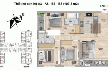 Chi tiết căn góc hoa hậu 3 Phòng ngủ - 107,7m2 - View đường đua F1. LH PKD: +84.094.106.5995