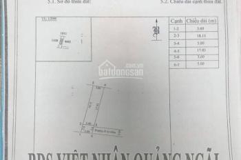 Bán đất nền P Nghĩa Chánh, diện tích 107,4m2, giá 9xxtr