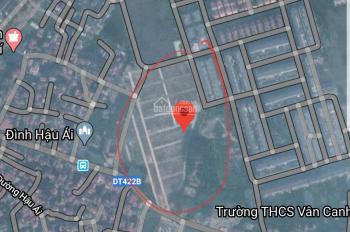 Cần bán đất đã có sổ đỏ khu dịch vụ Vân Canh, giá rẻ, 0972197233