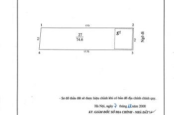 Chính chủ bán nhà 3 tầng tại ngõ 1 Bùi Xương Trạch, DT: 74.6m2, MT: 4.2m, LH: 0979808821