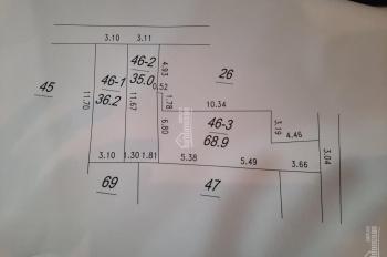 Bán đất chia lô DT 71 m2 giá 2.7 tỷ tại Mậu Lương, Kiến Hưng, Hà Đông, Hà Nội, LH 0981 782 567 Dung