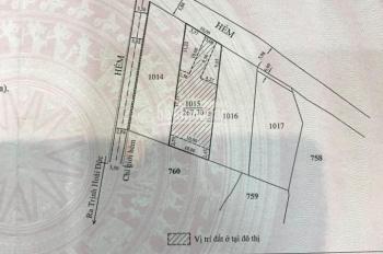 Bán đất nền biệt thự đường Nam Hồ, Đà Lạt 267m2 giá 5.3 tỷ