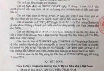 Mở bán khu dân cư Đại Nam, Phú Tân, Thủ Dầu Một, Bình Dương