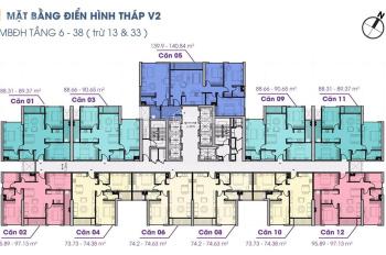 Bán CH 3pn, dt 96m2 tại The Terra An Hưng, giá 22tr/m2 vay 70% ân hạn nợ gốc, ls 0% 2 năm
