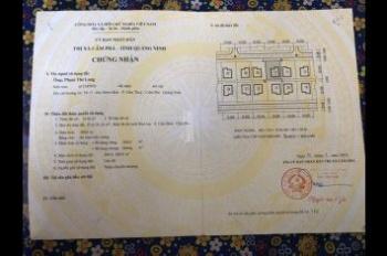 Gia đình cần tiền bán gấp lô biệt thự tại phường Cẩm Bình, Cẩm Phả