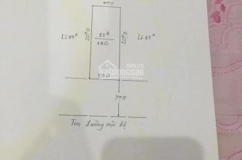 Bán lô đất tuyến 2 Khu Bãi, huyện Vân Tra, An Đồng, An Dương, Hải Phòng