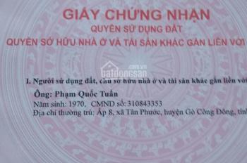 Chính chủ cần bán đất tại ấp 4, xã Bình Xuân, thị xã Gò Công, Tiền Giang