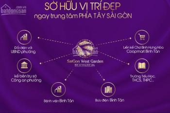 Mua đất nền Sài Gòn West Garden chỉ cần đóng trước 700tr, MT đường 17m. Liên hệ: 0902579511
