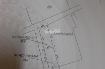 Bán đất tại đường Tình Quang, tổ 3, Phường Giang Biên, Long Biên, (ngoài đê) DT 39m2 mặt tiền 4.3m