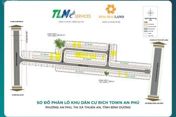 Đất sổ đỏ Rich Town An Phú, Thuận An, Bình Dương. KDC liền kề sầm uất, sổ đỏ - MT DT743