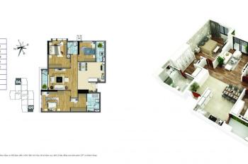 Bán gấp căn hộ cao cấp hướng cửa vào Tây Nam, ban công Đông Bắc tại Goldenmark City 136 Hồ Tùng Mậu