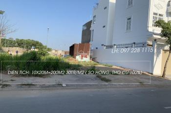 Đất biệt thự 10x20=200m2 ngay KDC ngay cầu Tân Tạo BT giá rẻ 30tr/m2 (bao sang tên công chứng)
