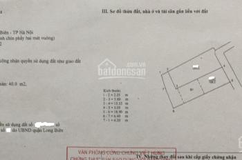 Bán đất thổ cư ngõ 62 Hoàng Như Tiếp 109m2 hướng Đông Bắc giá chỉ 45tr/m2