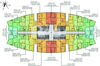 Bán căn góc 2PN, 67m2, cửa Tây Bắc Chung cư Văn Phú Victoria giá 1,4 tỷ, tầng cao