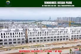 Bán căn mặt sau shophouse Sao Biển 23 dự án Vinhomes Ocean Park vị trí đẹp, giá cực tốt