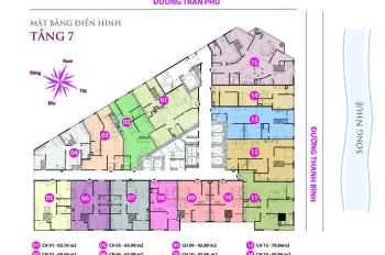 Danh sách quỹ căn 2 phòng ngủ tầng đẹp chung cư Tháp Doanh Nhân Cầu Trắng, Hà Đông