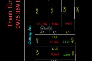 Bán nhanh lô 100% thổ cư diện tích 417m2, vị trí đắc địa tổ 10 TT Quang Minh. LH 0975369828