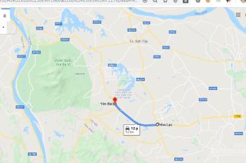 500 triệu cũng đầu tư được đất mặt đường nhựa tại Vân Hòa - Ba Vì