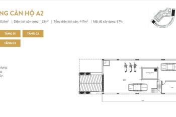 Bán liền kề A2 Sunshine City Phạm Văn Đồng được kinh doanh 184m giá tốt nhất thị trường