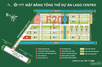 Bán ngay nền phố thương mại cực đẹp F20 Lago Centro, 5x19m đường chính, hướng Đông Bắc, chính chủ