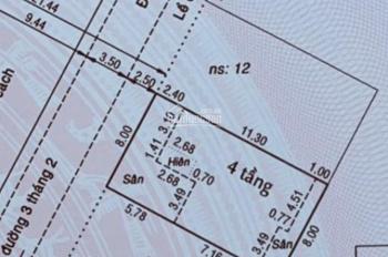 Bán nhà biệt thự khu sang hẻm 506/ đường 3 Tháng 2 Quận 10. DT: 8x12M, trệt 3 lầu ST giá 19 tỷ