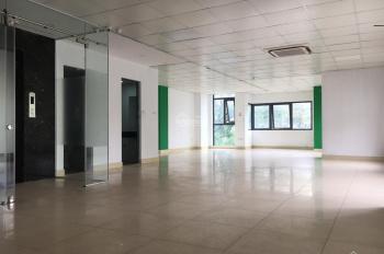 Cho thuê 150m2 sàn văn phòng mặt phố Trung Kính đã set up đủ điều hòa trần thạch cao. Giá 22 tr/th