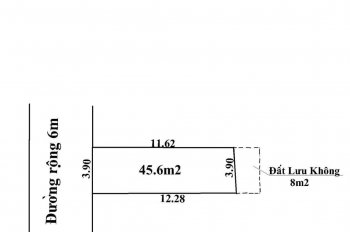 Gọi ngay kẻo hết, lô đất đẹp vuông vức 45,6m2 giá chỉ 570 triệu