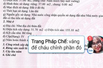 Cho thuê nhà văn phòng 57m2, 3 tầng, số 13 ngách 158/38 Nguyễn Sơn, LH 0968352689