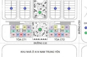 Tặng gói nội thất 120 triệu khi mua chung cư A10 Nam Trung Yên, giá rẻ nhất thị trường 25 triệu/m2
