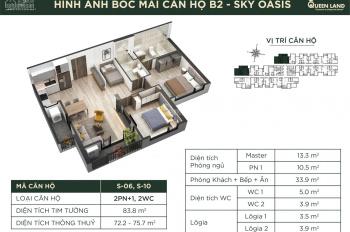 Ecopark Sky Oasis - Căn 2PN + 1 phòng đa năng góc - ưu đãi hấp dẫn - chiết khấu lên đến 11%