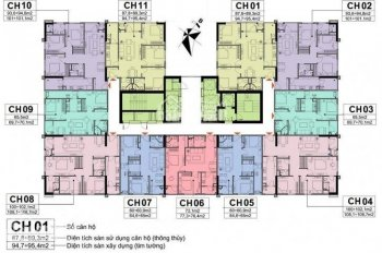 Thu hồi vốn bán nhanh suất ngoại giao 65m2, 95m2 chung cư A10 Nam Trung Yên 0967522585