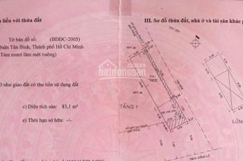 Bán nhà cấp 4 2MT đường Cống Lở, Tân Bình, DT: 5x20m, SHR. Bán: 10.5 tỷ