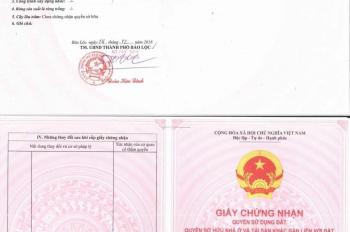 cần tiền cho con đi học muốn bán miếng đât 150m2 thổ cư 100% ngay trung tâm TP Bảo Lộc