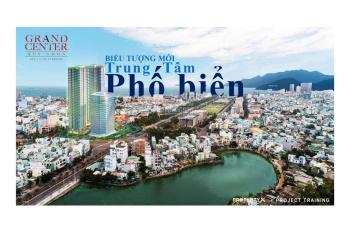 Hot-hỗ trợ 6-15% khi mua CHCC Grand Center tại TP Quy Nhơn, giá CĐT 37tr/m2, sổ hồng. LH 0907228516